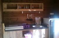 Cuisine intérieur Tente Lodge 6 personnes