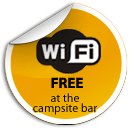 Free wifi at the campsite bar