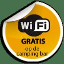 Wifi gratis bij de campingbar