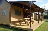 Intérieur Tente Lodge 8 personnes insolite