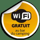 Wifi gratuit au bar du camping