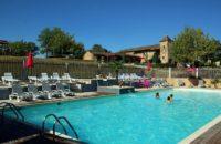 Parc aquatique, toboggans, piscine camping las patrasses